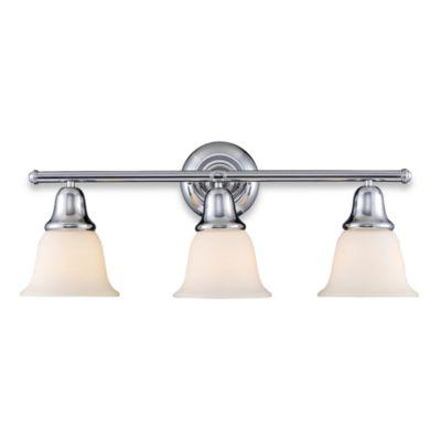 Buy Polished Chrome Vanity Lighting from Bed Bath Beyond – 3 Light Bathroom Fixture