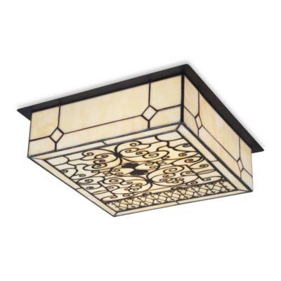 Buy tiffany flush mount ceiling light from bed bath beyond elk lighting adamson tiffany 2 light flush mount in matte black aloadofball Choice Image