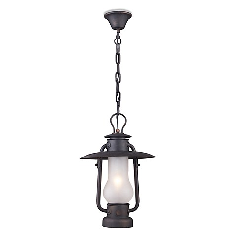 Elk Lighting Chapman 1-Light Pendant in Matte Black