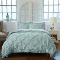 Analia Twin Duvet Cover Set in Light Blue
