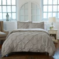 Analia Twin Duvet Cover Set in Grey