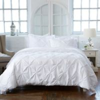 Analia King Duvet Cover Set in White