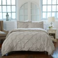 Analia Twin Duvet Cover Set in Taupe