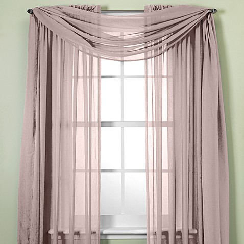 Crushed Voile Sheer Window Curtain Panel Bed Bath Beyond