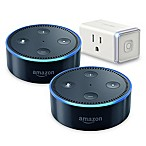 Amazon Echo Dot (2nd Generation) 2-Pack with Tp-Link Mini Smart Plug