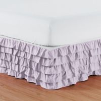 Elegant Comfort Multi-Ruffle King Bed Skirt in Lilac