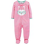 carter's® Size 24M Striped Bunny Footie in Pink