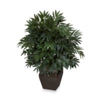 Nearly Natural 35-Inch Double Bamboo Palm with Decorative Planter