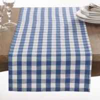 Saro Lifestyle Gingham 72-Inch Table Runner in French Blue