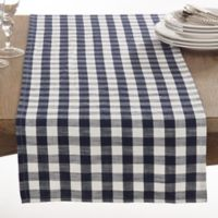 Saro Lifestyle Gingham 72-Inch Table Runner in Navy Blue