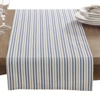 Saro Lifestyle Dauphine Striped 72-Inch Table Runner in French Blue
