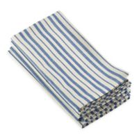Saro Lifestyle Dauphine Striped Napkins in French Blue (Set of 4)