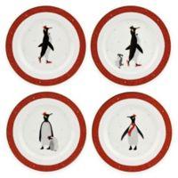 Portmeirion® Red Penguin Dessert Plates (Set of 4)