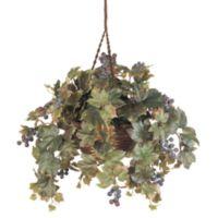 Nearly Natural Grape Leaf Silk Plant Hanging Basket