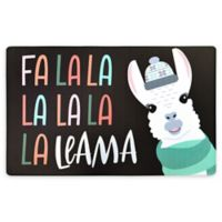 "Home Dynamix Cook N Comfort 20"" x 32"" Anti-Fatigue Llama Holiday Kitchen Mat"