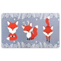 """Home Dynamix Cook N Comfort 20"""" x 32"""" Anti-Fatigue Foxes Holiday Kitchen Mat"""