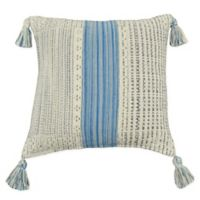 Cornflower Striped Square Throw Pillow in Blue