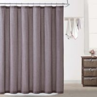 Oceanfront Resort Chambray Coast Shower Curtain in Plum