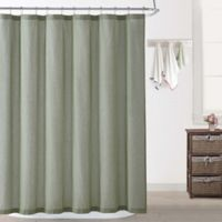 Oceanfront Resort Chambray Coast Shower Curtain in Green
