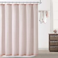 Oceanfront Resort Chambray Coast Shower Curtain in Blush