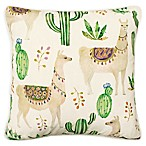 Boho Living Andes Square Throw Pillow in White