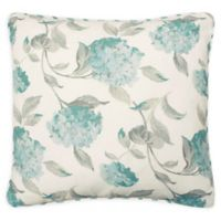 Laura Ashley® Rosemary Square Throw Pillow in White/Blue
