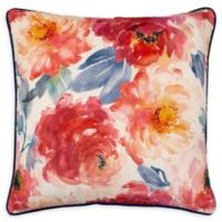 Boho Living Peony Bloom 20-Inch Decorative Pillow in White