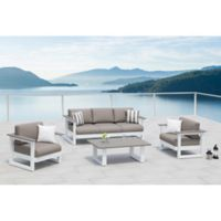 OVE® Lucas 4-Piece Patio Conversation Set in Taupe