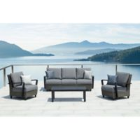 OVE Decors Augusta 4-Piece Patio Conversation Set in Grey