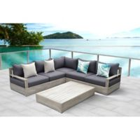 OVE® Beranda 3-Piece Patio Sectional Set in Taupe