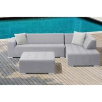 Eden 3-Piece Outdoor Sectional Set in Grey