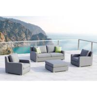 Royal 4-Piece Outdoor Patio Conversation Set in Grey