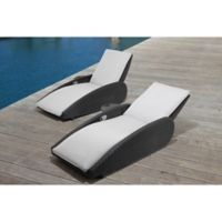 OVE® Sevilla Patio Lounge Chairs in Grey Sunbrella® Canvas (Set of 2)