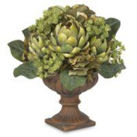 Nearly Natural Silk Artichoke Flower Centerpiece