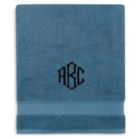 Wamsutta® Personalized Hygro® Duet Bath Sheet in Teal