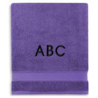 Wamsutta® Personalized Hygro® Duet Bath Sheet in Grape