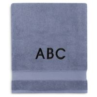 Wamsutta® Personalized Hygro® Duet Bath Sheet in Slate