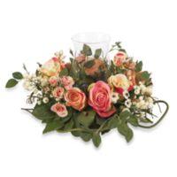Nearly Natural 8.5-Inch Silk Rose Candelabrum Flower Arrangement