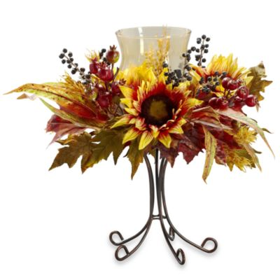 Nearly Natural Silk Sunflower Candelabrum W/Stand