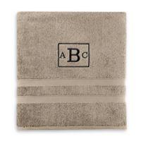Wamsutta® Personalized Ultra Soft MICRO COTTON Bath Towel in Taupe