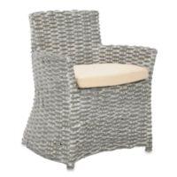 Safavieh Cabana Arm Chair in Grey White Wash