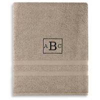 Wamsutta® Personalized Ultra Soft MICRO COTTON Bath Sheet in Taupe