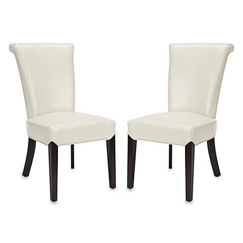 Safavieh Kiera Side Chairs in Cream (Set of 2)