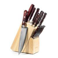 Lamson® Silver Forged 16-Piece Maplewood Knife Block Set in Brown
