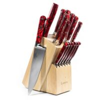 Lamson® Fire Forged 16-Piece Maplewood Knife Block Set in Red