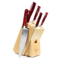 Lamson® Fire Forged 6-Piece Maplewood Knife Block Set in Red