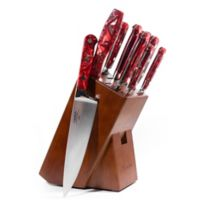 Lamson® Fire Forged 10-Piece Walnut Knife Block Set in Red