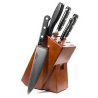 Lamson® Earth Forged 6-Piece Walnut Knife Block Set in Black