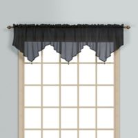 Monte Carlo Sheer Voile Ascot Valance in Black