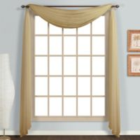 Monte Carlo Sheer Voile Scarf Valance in Bronze